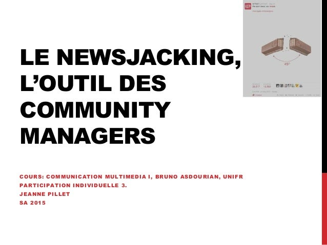 COURS: COMMUNICATION MULTIMEDIA I, BRUNO ASDOURIAN, UNIFR PARTICIPATION INDIVIDUELLE 3. JEANNE PILLET SA 2015 LE NEWSJACKI...