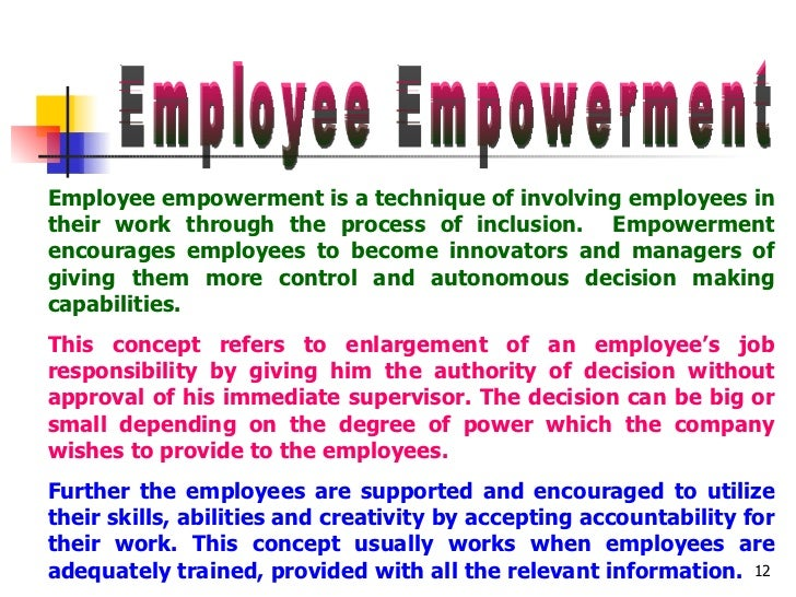 management control and workers participation Introduction workers participation in management workers' participation in management: it was however a distant dream for the workers to have control over.