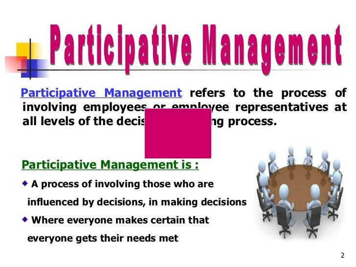 types of participative management