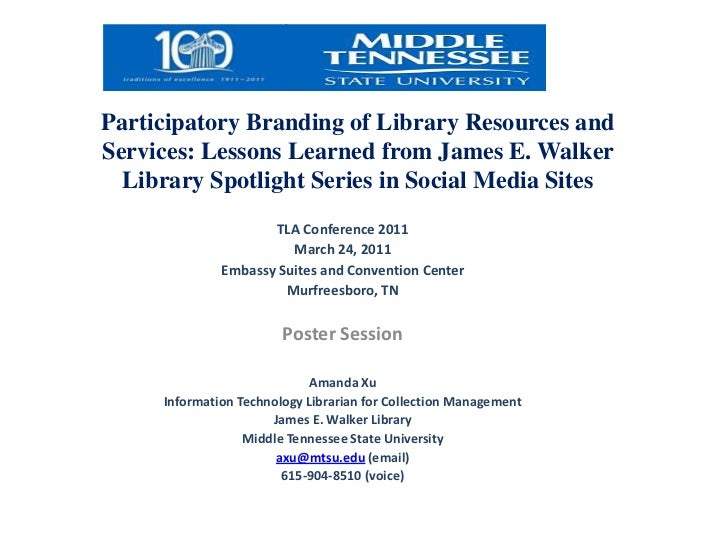 Participatory Branding of Library Collections and Services