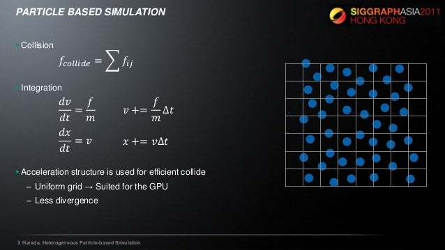 Heterogeneous Particle based Simulation (SIGGRAPH ASIA 2011)
