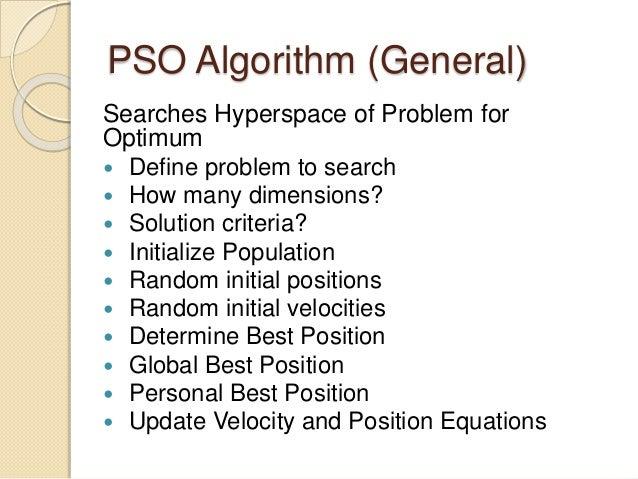 Particle swarm optimization