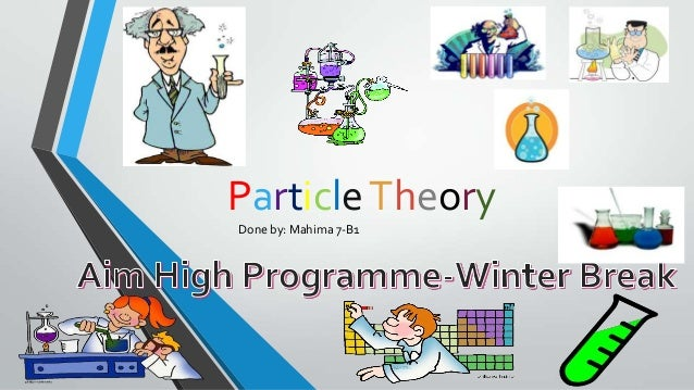 Particle Theory Done by: Mahima 7-B1