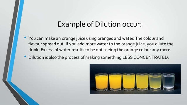 7. Example Of Dilution ...