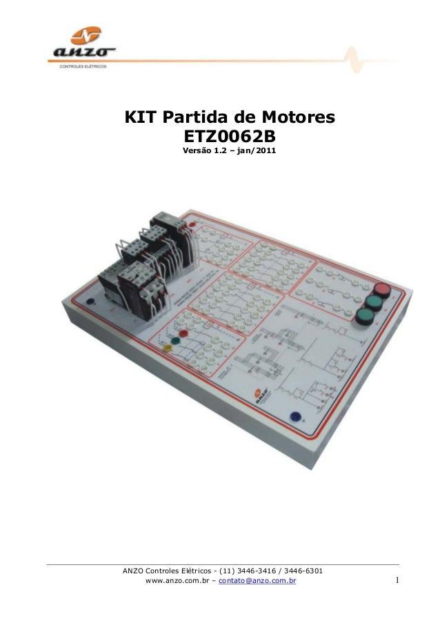 ANZO Controles Elétricos - (11) 3446-3416 / 3446-6301 www.anzo.com.br – contato@anzo.com.br 1 KIT Partida de Motores ETZ00...