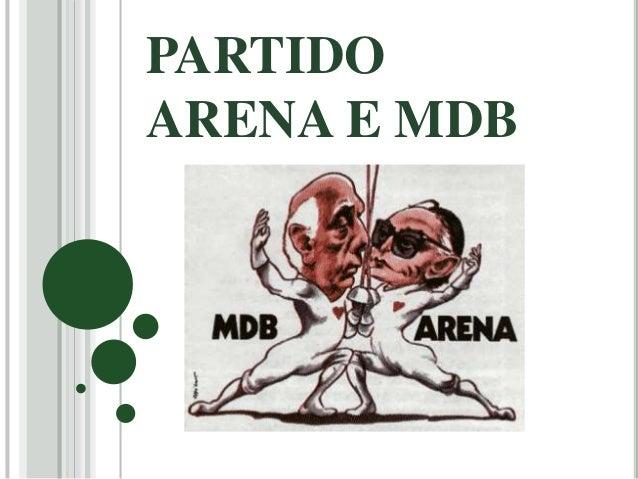 PARTIDO  ARENA E MDB