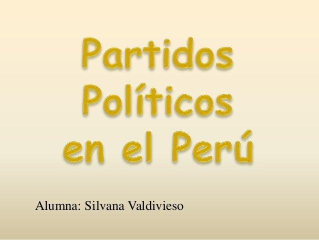 Alumna: Silvana Valdivieso
