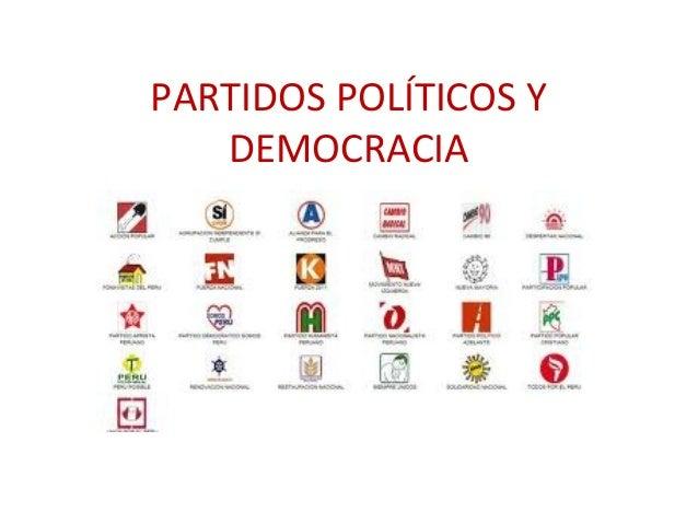 PARTIDOS POLÍTICOS Y DEMOCRACIA PeP