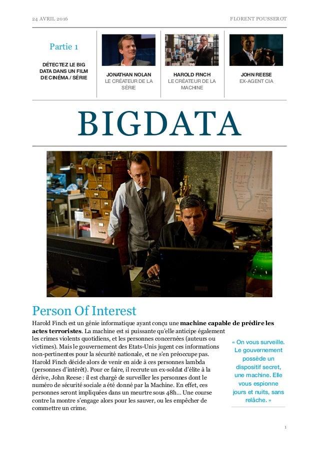 d u00c9tectez le big data dans un film de cin u00c9ma    s u00c9rie