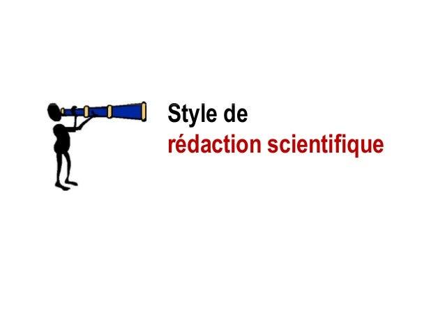Style deStyle de rédaction scientifique