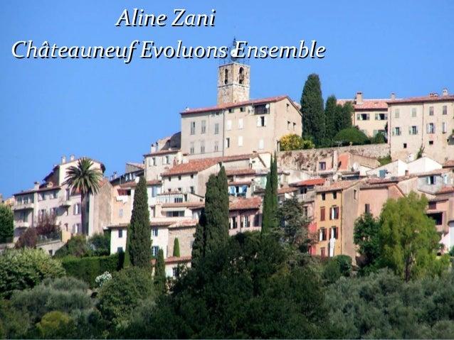 Aline Zani Châteauneuf Evoluons Ensemble
