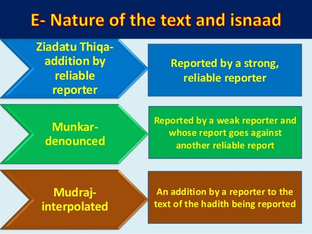 o In this branch, detail knowledge about reporters of Hadith (Rawi's) are discussed. o Books 1. Tabaqaat Ibn Saad 2. Usdul...