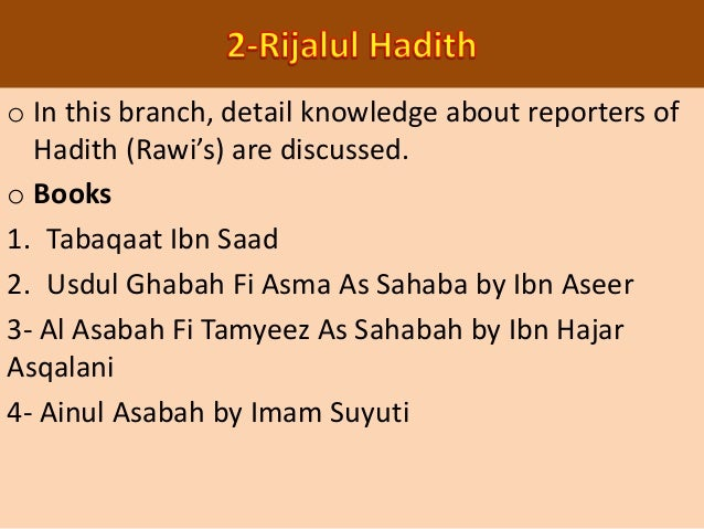 o In this science those ahadith are discussed whose meaning is not clear to many people due to change in Arabic language. ...