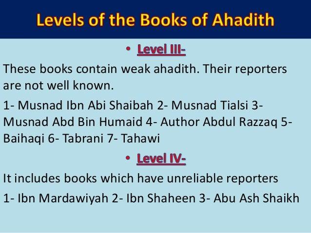 • Ikhtisar or short version of Hadith Books- 1. At-Tajreedus Saheeh by Zubaidi ( Bukhari) 2. Ikhtisar Sahih Muslim by Hafi...