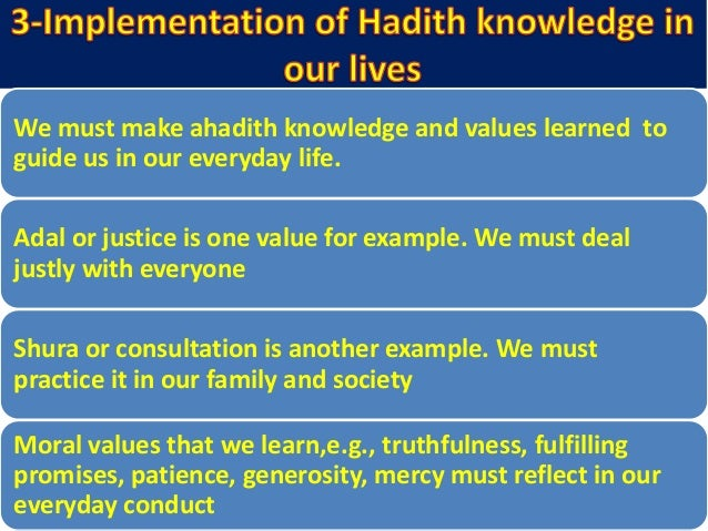 Some ahadith require detailed explanation which may not be digested by lay person Example is of Hadith which talks about p...