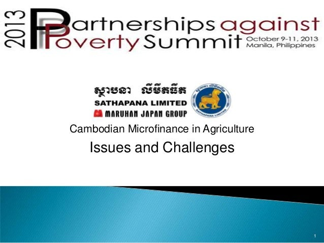 Cambodian Microfinance in Agriculture  Issues and Challenges  1