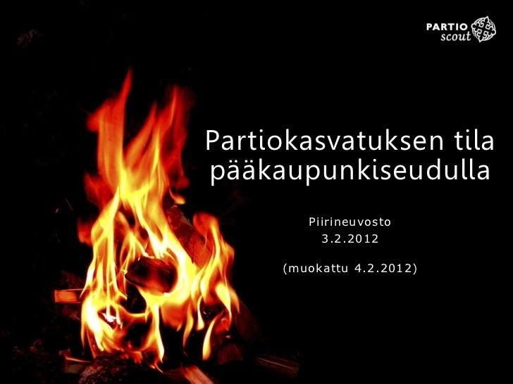 Partiokasvatuksen tilapääkaupunkiseudulla        Piirineuvosto          3.2.2012     (muokattu 4.2.2012)