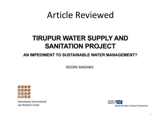 thesis on water supply and sanitation This master thesis  standing of drinking water governance the thesis analyzes  the  water supply and sanitation program in rural areas.