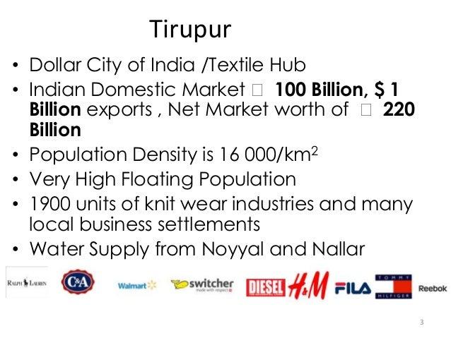 Knitting Units In Tirupur : Tirupur water supply and sanitation