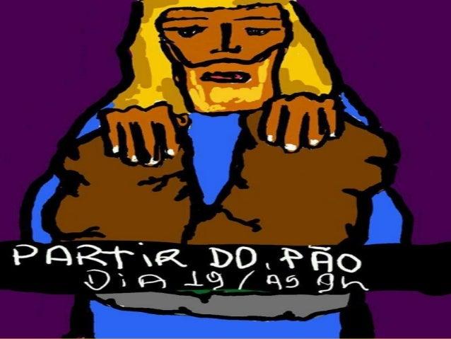 E no primeiro dia da semana,ajuntando-se os discípulos para partir opão, Paulo, que havia de partir no diaseguinte, falava...