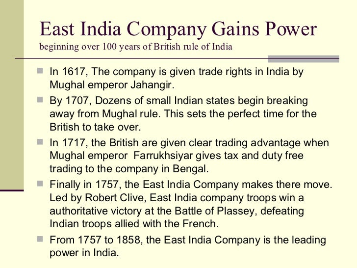 the british east india company essay