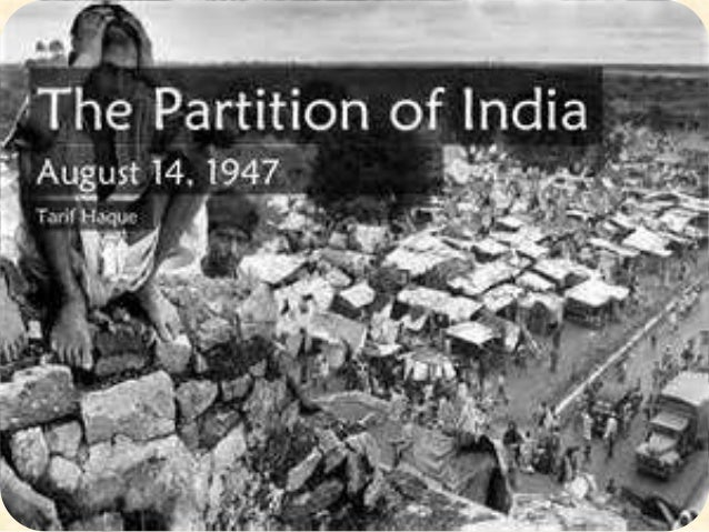 Partition of india & pakistan