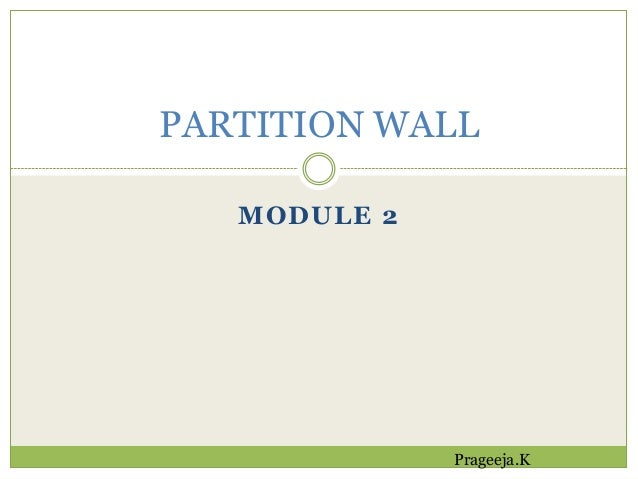 partition wall On partition wall agreement