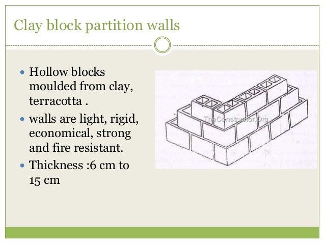 Fire Resistant Concrete Mix : Partition wall