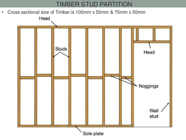 4 timber stud partition