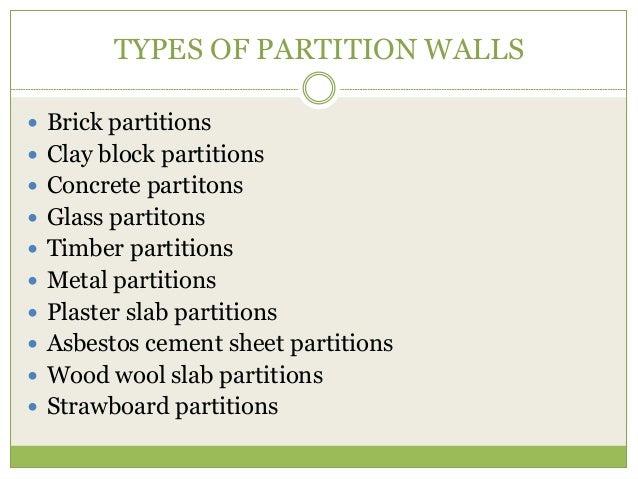 Partiton Wall And Adhesives