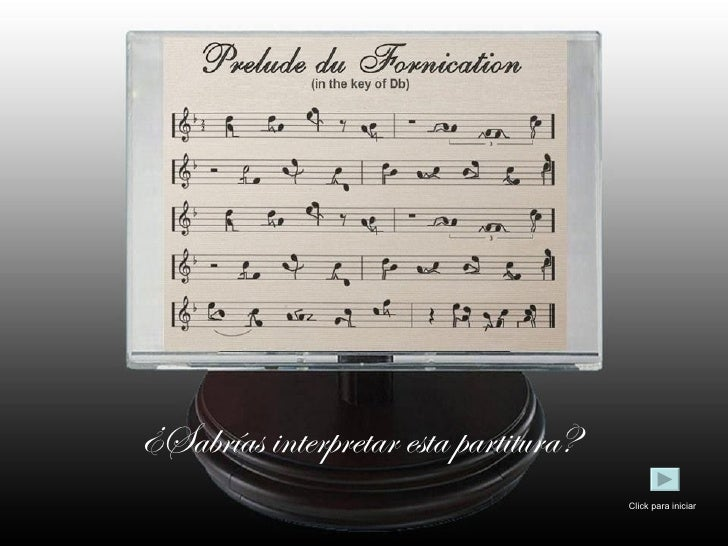 ¿Sabrías interpretar esta partitura? Click para iniciar