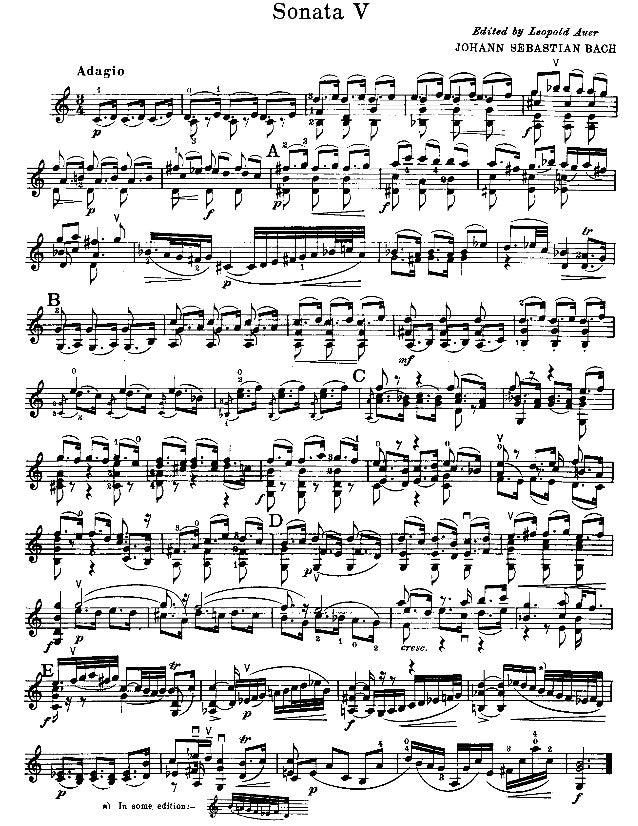 Partitura   bach - sonata no.3 em dó maior, bwv 1005