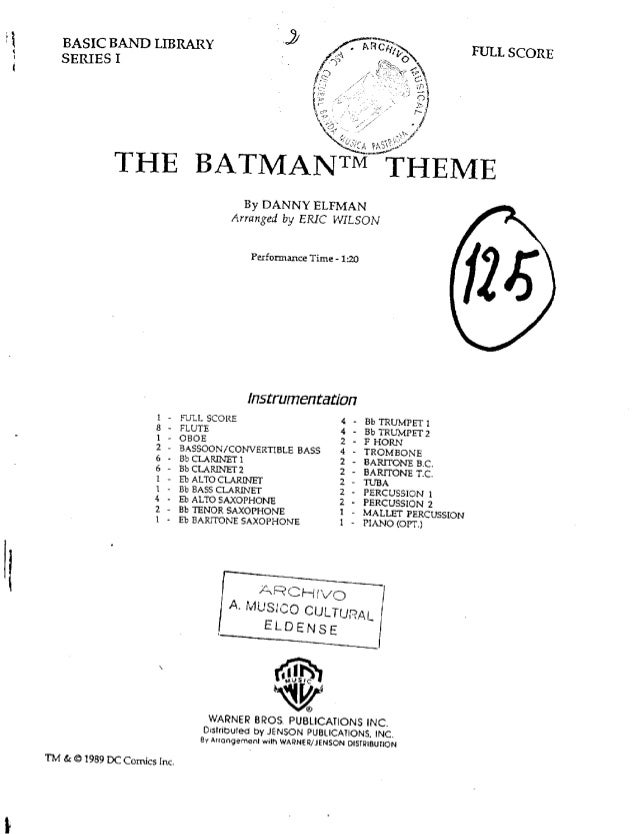 The Batman Theme.
