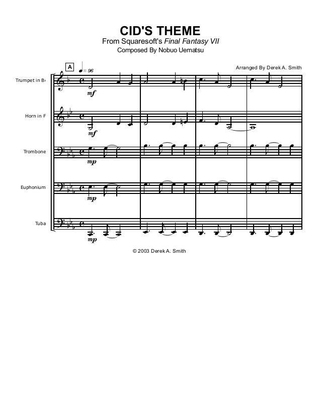 & & ? ? ? b bb bb b bbb bbb c c c c c Trumpet in Bb Horn in F Trombone Euphonium Tuba A F F P P P q»ª§ ˙ œ œ ˙ œ œ .œ J œ ...