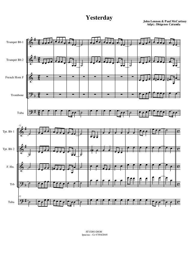 & & & ? ? # # b # 42 42 42 4 2 4 2 Trumpet Bb 1 Trumpet Bb 2 French Horn F Trombone Tuba œ œ œ œ œ œ œ œ ∑ ∑ œ œ œ œ œ œ œ...