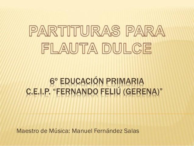 Maestro de Música: Manuel Fernández Salas