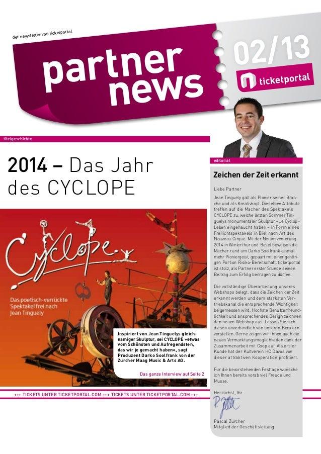 02/13  etportal ter von tick  der newslet  titelgeschichte  2014 – Das Jahr des CYCLOPE  Inspiriert von Jean Tinguelys gle...