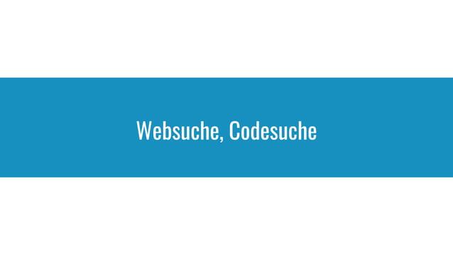 Websuche, Codesuche