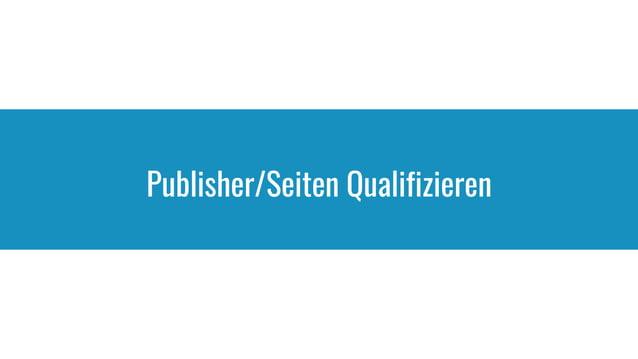 Publisher/Seiten Qualifizieren