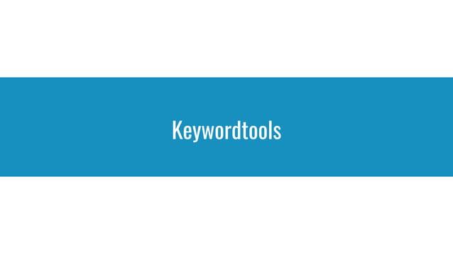 Keywordtools