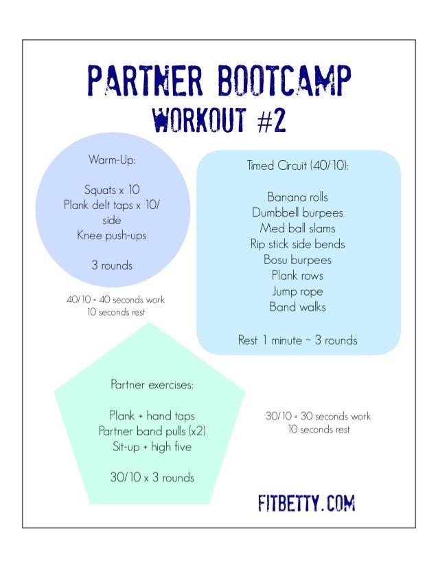Partner Bootcamp Workout 2