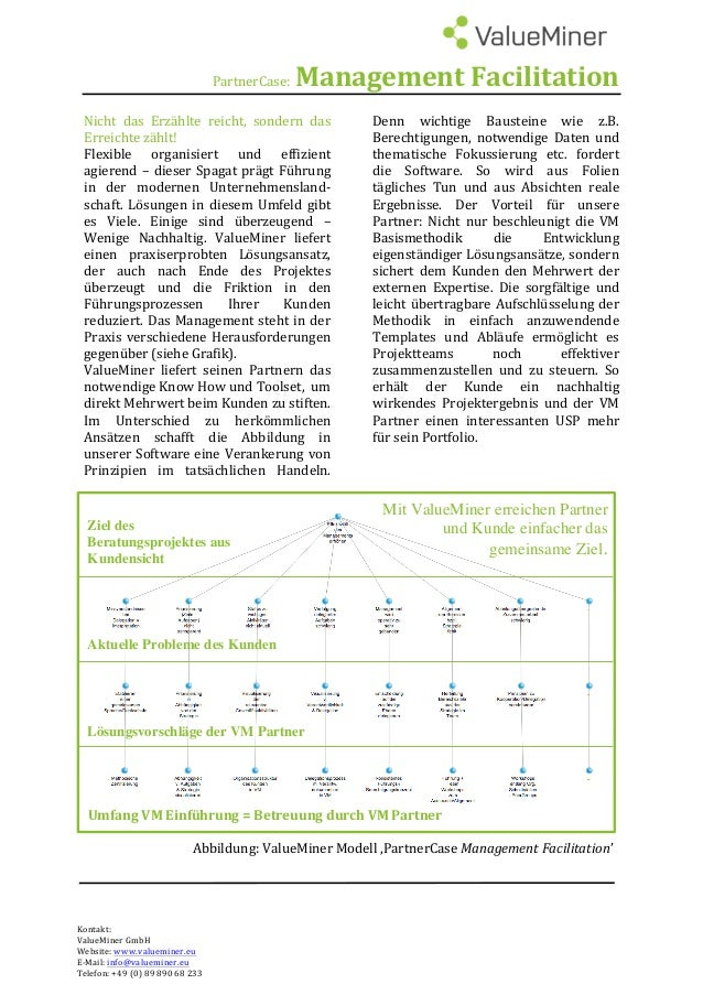 PartnerCase:ManagementFacilitation  Nicht das Erzählte reicht, sondern das Erreichtezählt! Flexible organisi...