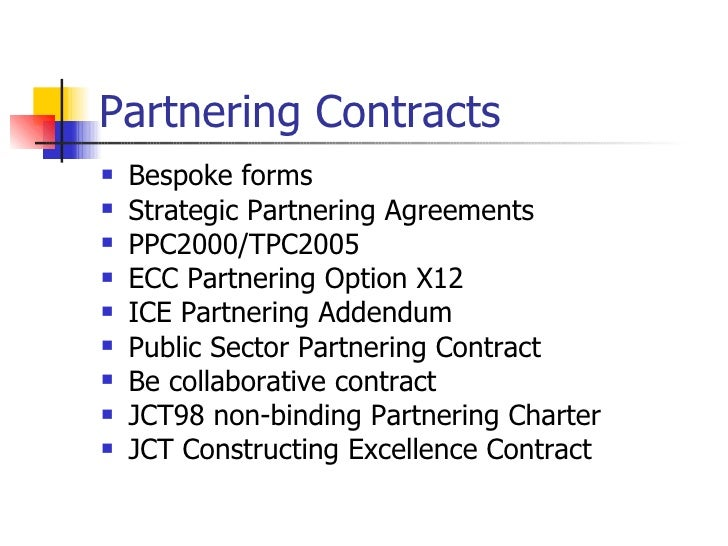 Partnering and partnering contracts presentation partnering contracts platinumwayz
