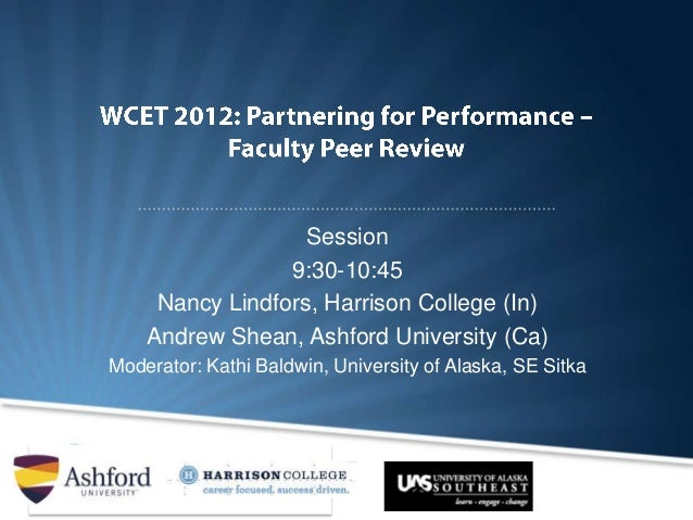 Session                 9:30-10:45     Nancy Lindfors, Harrison College (In)    Andrew Shean, Ashford University (Ca)Moder...