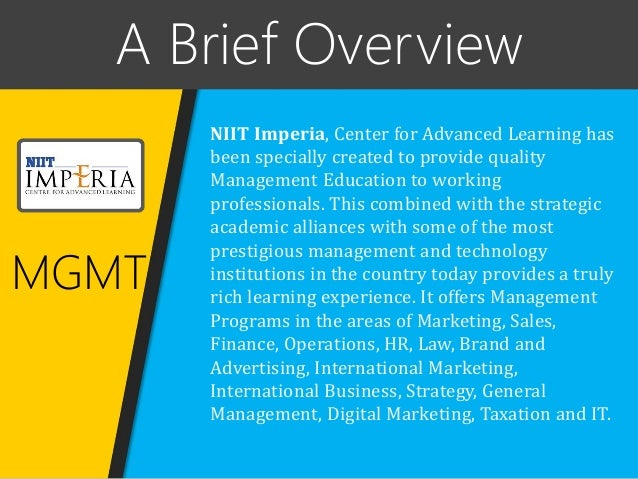 Partnering with NIIT