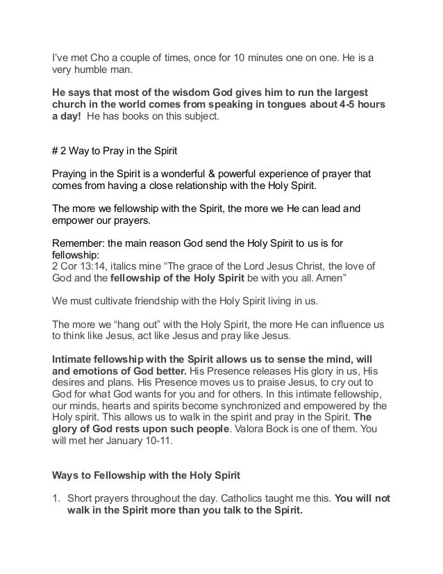Getting to Know the Holy Spirit, Part 3: Praying in the Spirit