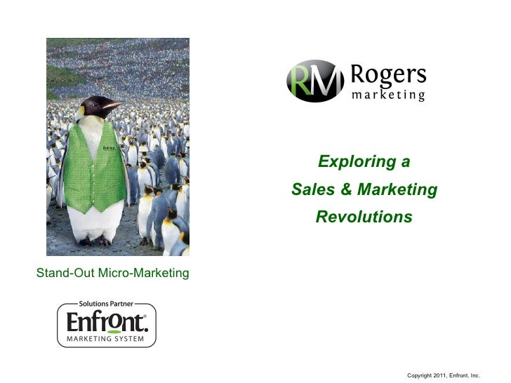Stand-Out Micro-Marketing Exploring a Sales & Marketing Revolutions