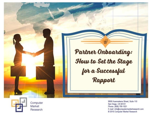 Partner onboarding  how to set the stage for a successful rapport