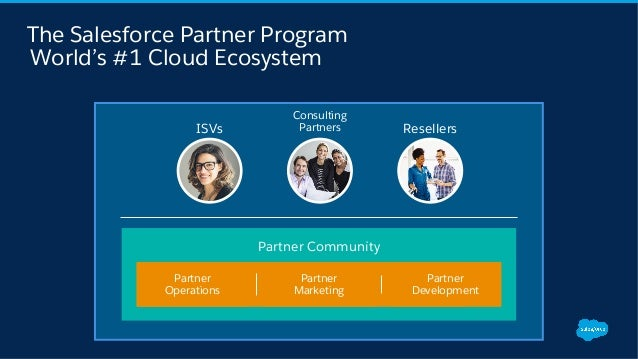 The Salesforce Partner Program World's #1 Cloud Ecosystem Consulting PartnersISVs Resellers Partner Community Partner Oper...