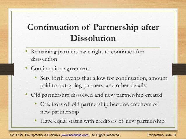 Forms Of Business Ownership Partnership